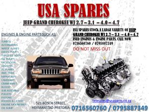 JEEP GRAND CHEROKEE WJ 2.7 – 3.1 – 4.0 – 4.7 ENGINES AND ENGINE PARTS