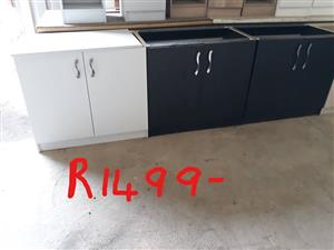 Black and white kitchen cupboard