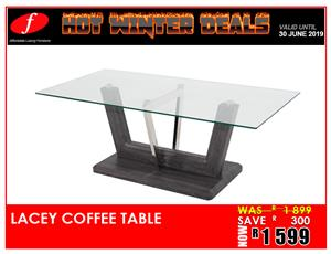 COFFEE TABLE BRAND NEW LACEY FOR ONLY R1 599!!!