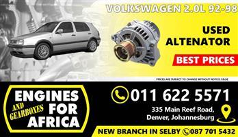 Used Volkswagen 2.0L 92-98 Alternator FOR SALE