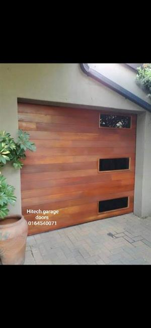 Meranti garage door