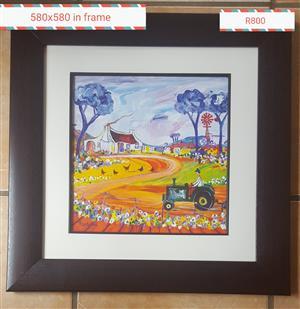 Portchi prints framed