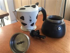 "Bialetti Mukka ""Cow Spotted"" Express Espresso Maker, 2 Cuppa"