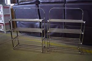2 Steel 4 tier vegetable racks