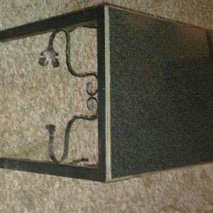 Granite top steel table