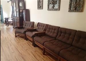Kiaat antique lounge suite.