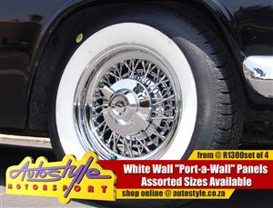 White Wall Port A Wall Panels for 13, 14 15 inch Tyres from R1050 set of 4