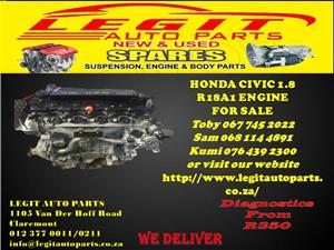 HONDA CIVIC 1.8 R18A1 ENGINE FOR SALE