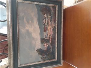 Original Anton Benzon Painting