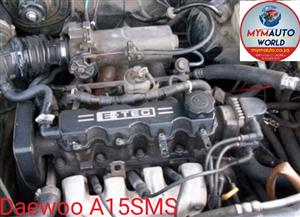 Complete Second hand used engines, DAEWOO LANOS 1.5L SOHC, DAEWOO A15SMS