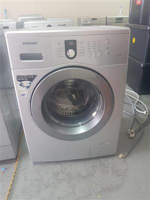 Silver Samsung front loader