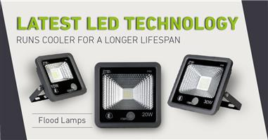 LED Floodlights with Built-In Auto Day & Night Sensor. Brand New Products.