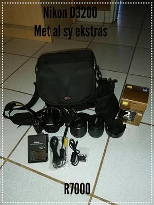 Nikon D3200 met extras