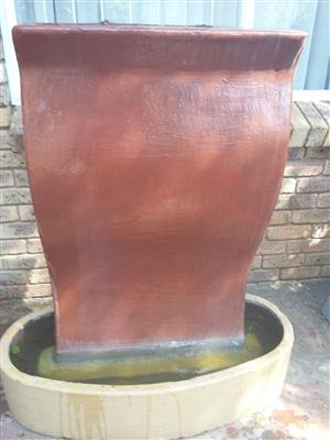 a complete water fountain for sale 1.000 wyd by 1.300 high. Price R1200.00 cash  contact no. 0826915791