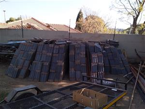 Second hand Coverland Vereeniging roof tiles for sale R4.00 each.
