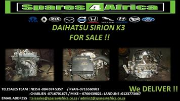 Daihatsu Sirion K3 for sale