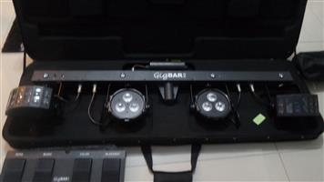 "Hybrid double 18"" bass bins and chauvet dj gigbar 2"