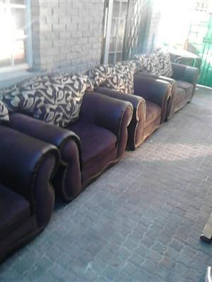 3 Piece Lounge Suit Set for Sale - Brown