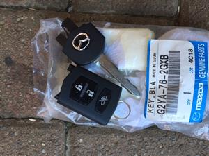 Mazda 3 Key and 1 Remote for Sale.