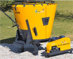 S3147 Yellow Soilmaster Vertical Feed Mixer 2 Cube With 22kW Electric Motor New Implement