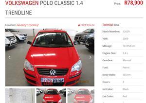 2009 VW Polo sedan POLO GP 1.4 TRENDLINE