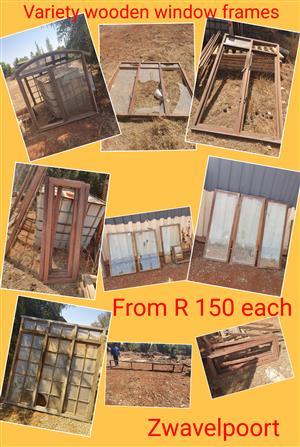 Variety wooden window frames
