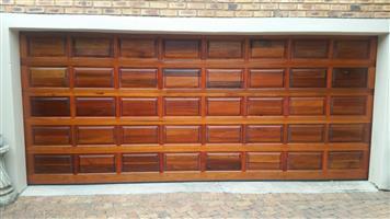 Double Sectional Wooden Garage Doors