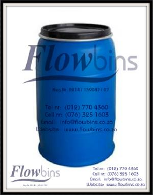 210Lt Blow Pack Plastic drums / 210l Blue round drums from R260