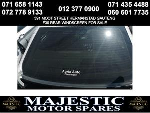 Bmw F30 windscreen for sale rear used