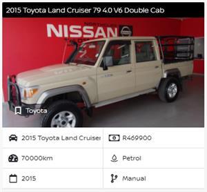 2015 Toyota Land Cruiser 79 double cab LAND CRUISER 79 4.0P P/U D/C