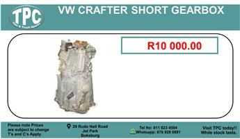 Vw Crafter Short Gearbox For Sale.