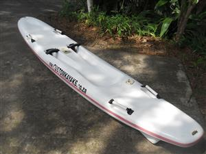 Fishing surf ski for sale with rod holder very light .