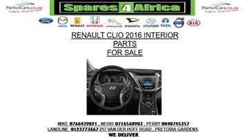 RENAULT CLIO 2016 USED INTERIOR PARTS