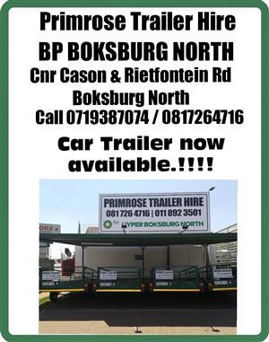 Trailer hire boksburg North BP garage open 24 Hrs a day
