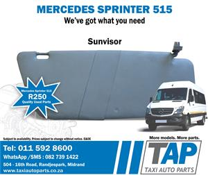 Mercedes Sprinter 515 SUNVISOR stripping for quality used spares at Taxi Auto Parts - TAP