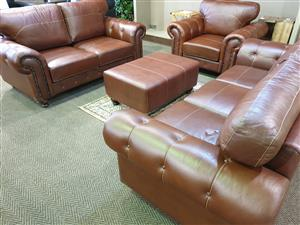 100% Genuine Leather Upper Lounge suite for sale R 33995