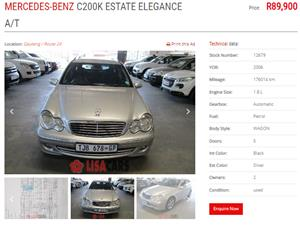 2006 Mercedes Benz C Class C200 estate Elegance