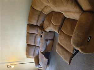 Recliner couch with cup holders