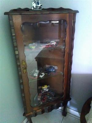 2 x Antique Show Cabinets