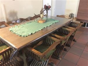 Italian oak style dining set