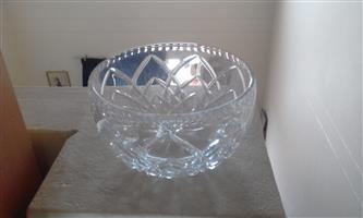 Crystal fruit bowl
