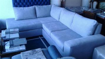 Light grey L shaped couch