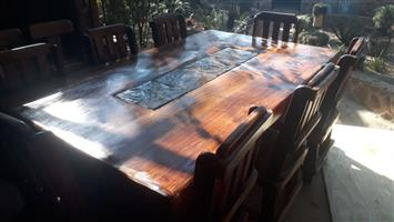 8 Seater dining room table set