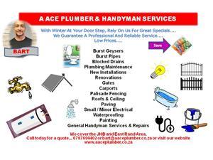 A ACE PLUMBER & HANDYMAN SERVICES