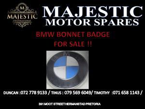 BMW BONNET BADGE FOR SALE !