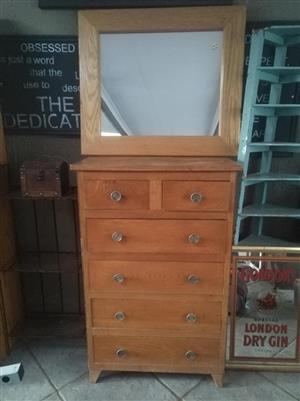 Vintage dressing cabinet solid wood