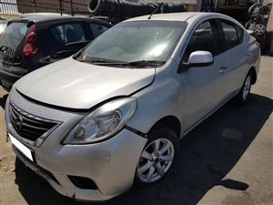 Nissan Almera 2014 stripping for spares.