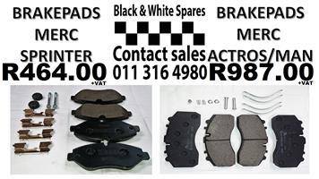 BRAKE PADS SPRINTER / ACTROS / MAN