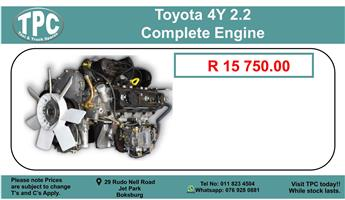 Toyota 4Y 2.2 Complete Engine For Sale.