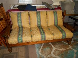 DAMASK THREE SEATER COUCH,